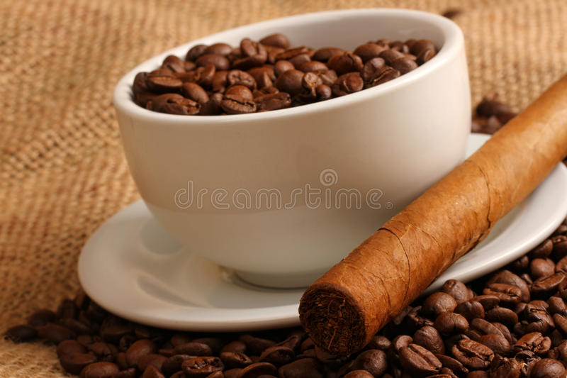 Download Coffee and cigar stock image. Image of close, breakfast - 28539907