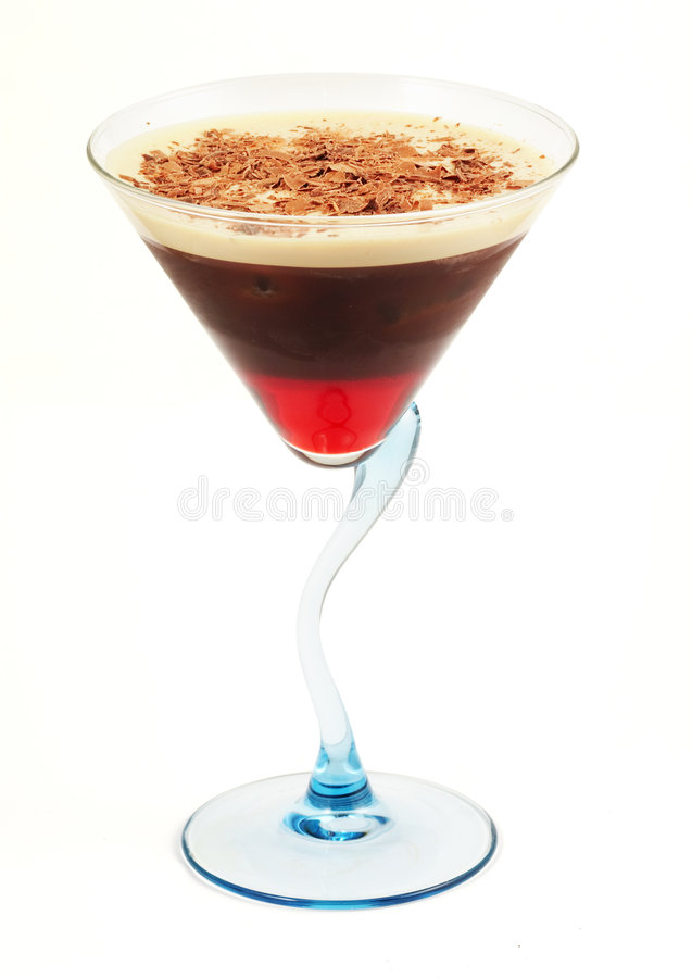 Download Coffee Cocktail In Blue Glass Stock Image - Image of isolated, juice: 2364665