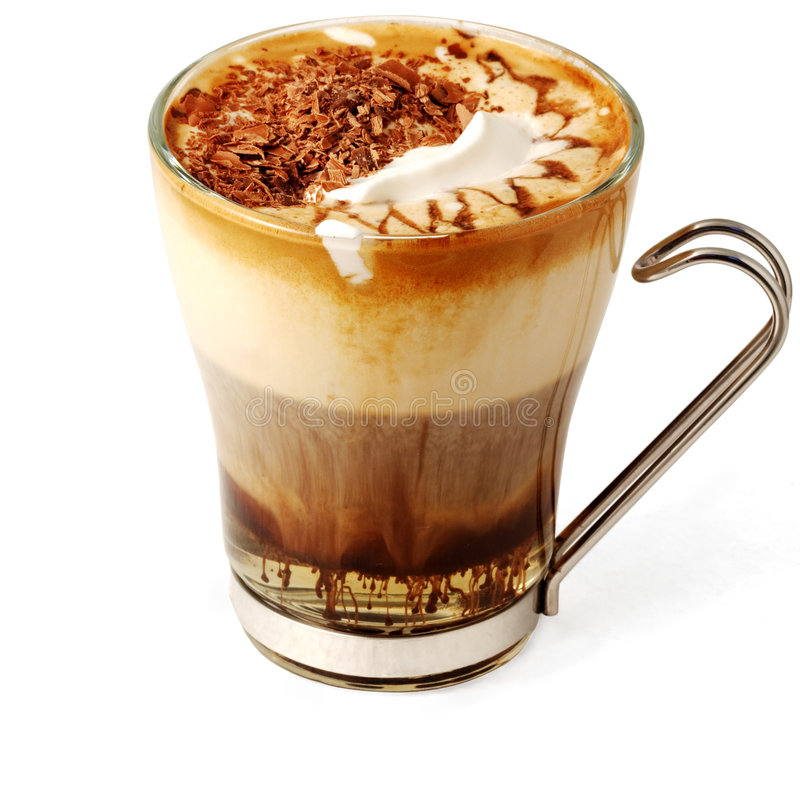 Download Coffee Cocktail In Glass Cup Stock Image - Image: 4412921