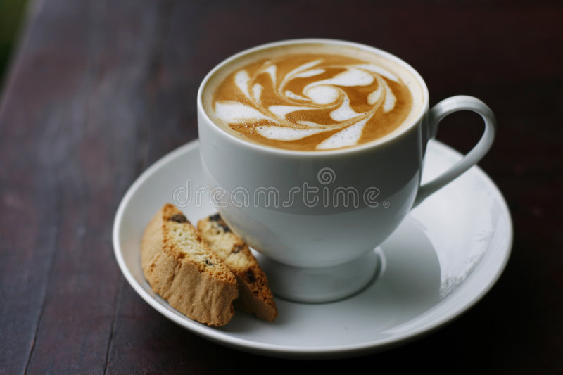 Coffee and coffee art royalty free stock photo