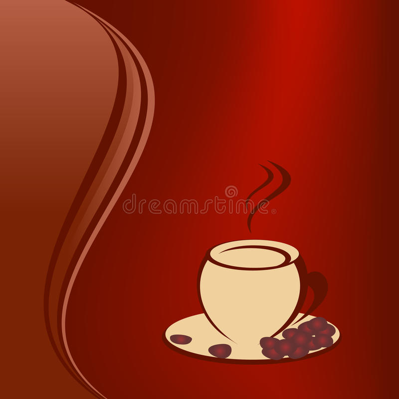 Coffee with coffee beans vector illustration