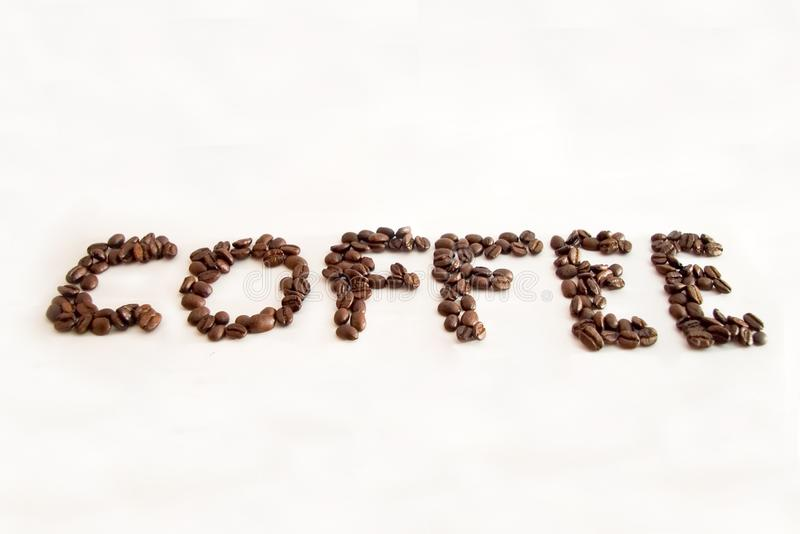 Coffee in coffee beans stock photography