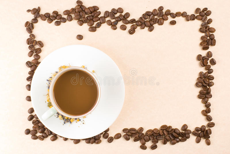 Download Coffee And Coffee Beans As Frame Stock Image - Image: 11433909