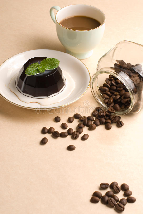 Download Coffee, Coffee Pudding And Coffee Beans Stock Photo - Image: 11433958