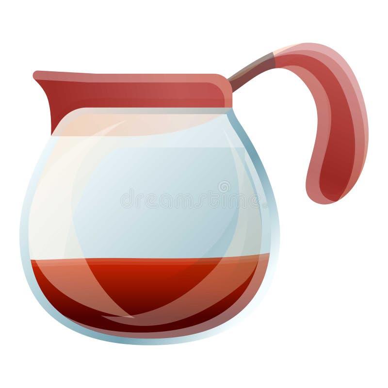 Coffee cold glass pot icon, cartoon style stock illustration