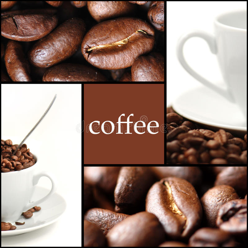 Coffee collage royalty free stock photography