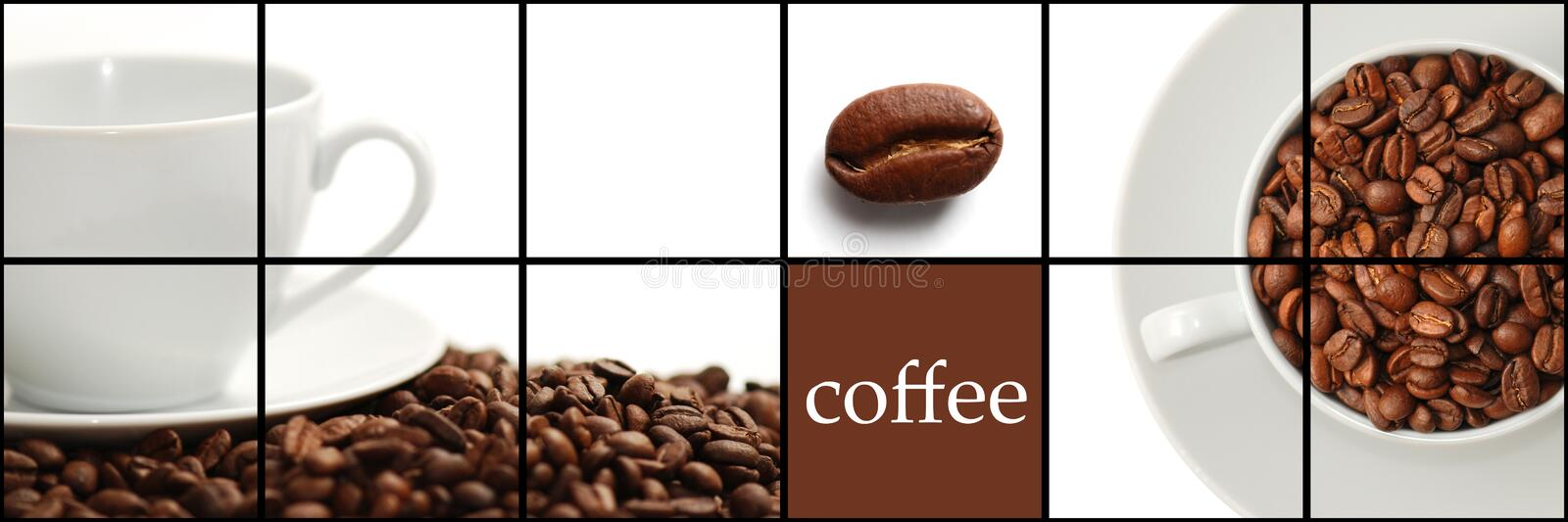 Download Coffee collage stock photo. Image of close, brown, coffee - 13490690