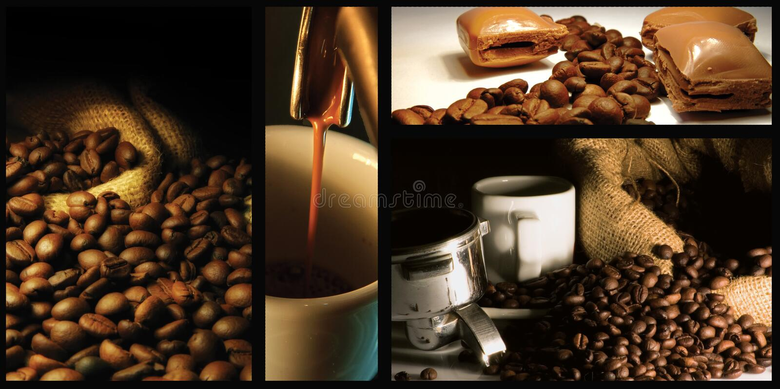 Coffee collage stock image