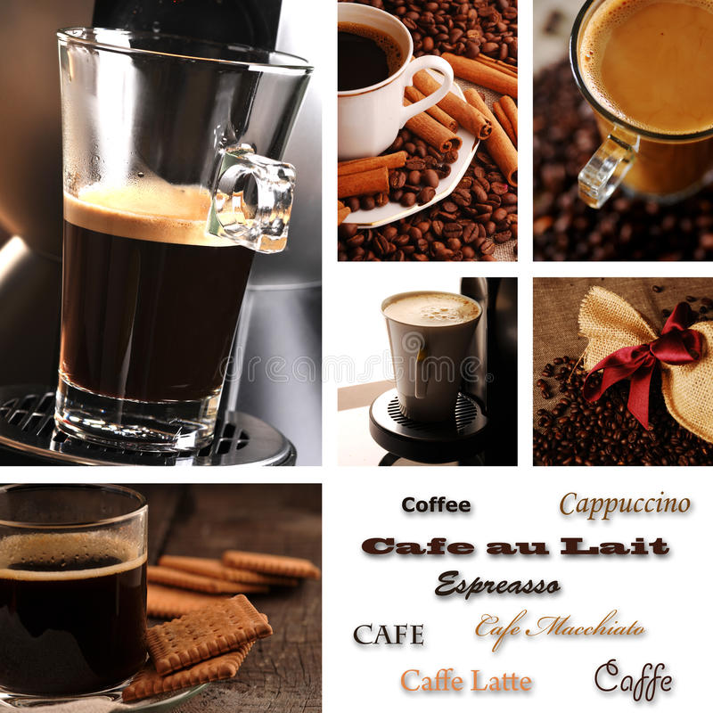 Coffee collage vector illustration