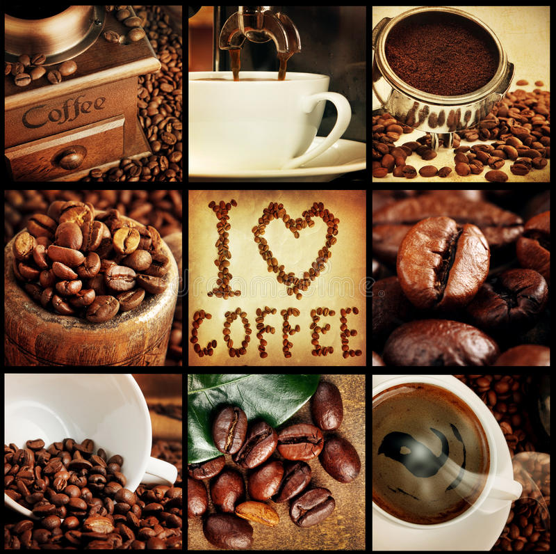 Coffee collage royalty free stock images