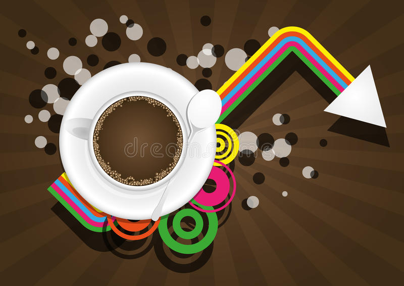 Coffee Color Graphic Royalty Free Stock Image