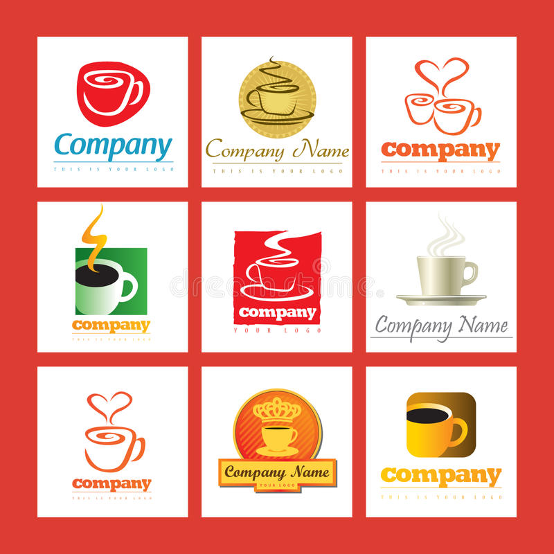 Download Coffee company logos stock vector. Illustration of cafe - 14055931