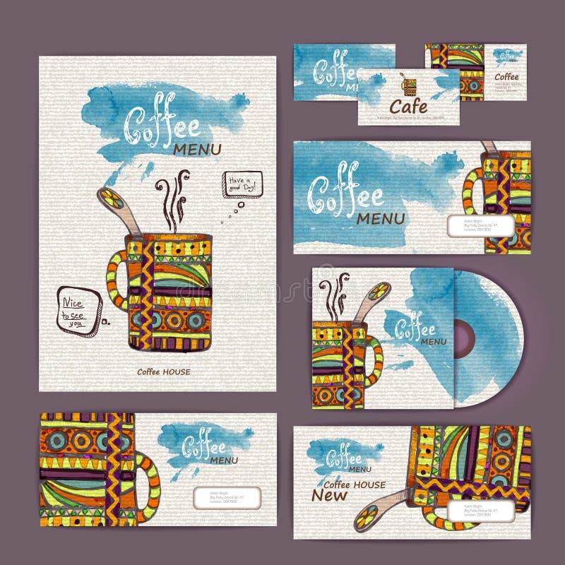 Coffee concept design. Corporate identity vector illustration