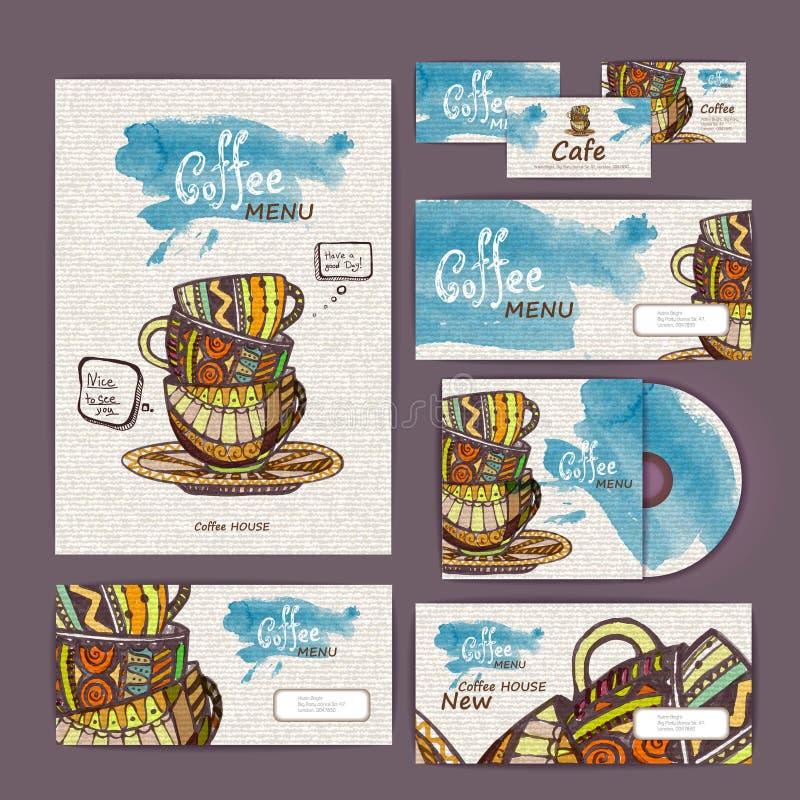 Coffee concept design. Corporate identity stock illustration