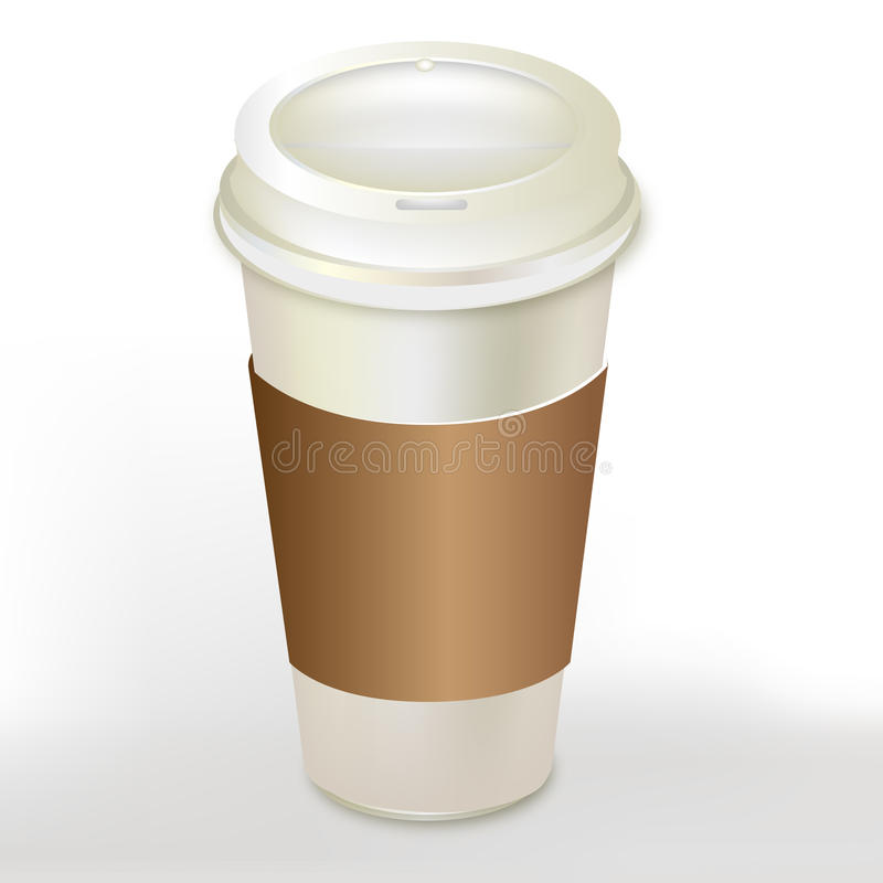 Coffee container with cap royalty free illustration