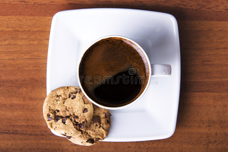 Coffee with cookie stock photo