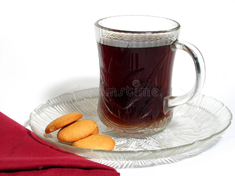 Download Coffee and Cookies stock image. Image of glass, drink, java - 83707
