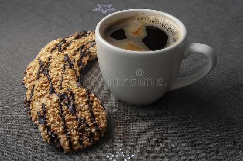 Coffee with cookies stock image