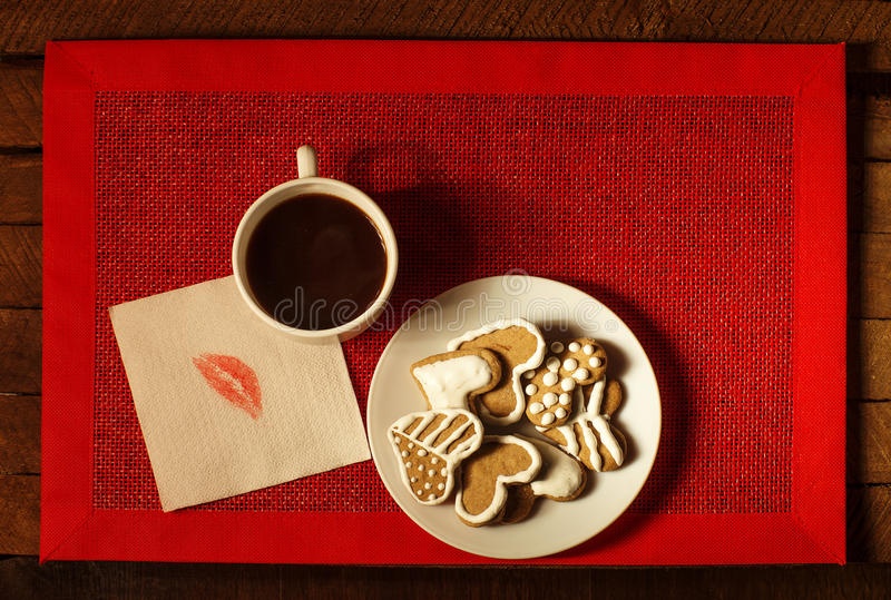 Download Coffee with cookies 2 stock image. Image of white, morning - 83715705