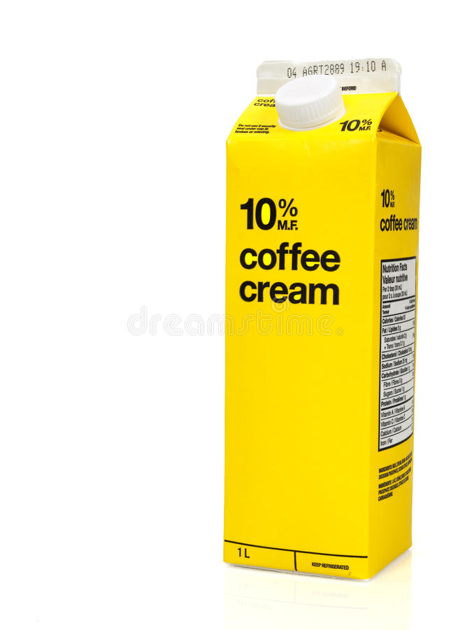 Coffee cream box royalty free stock photography