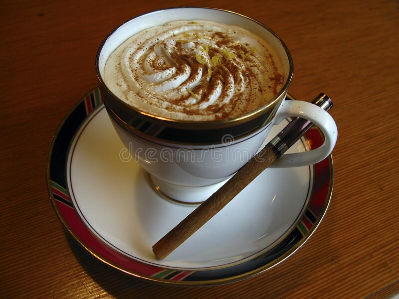 Coffee With Cream And Cigar Free Public Domain Cc0 Image