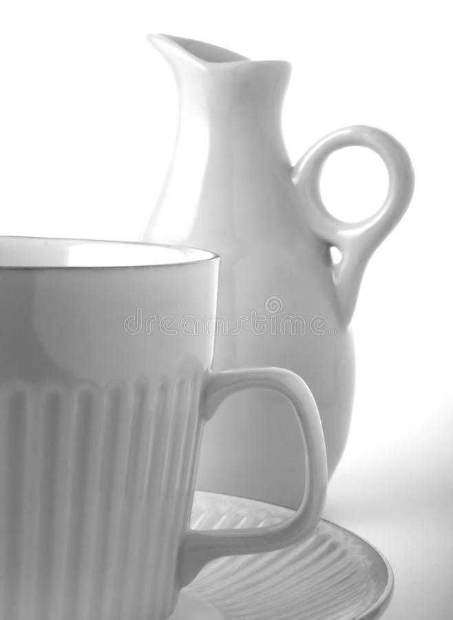 Coffee And Creamer Stock Image