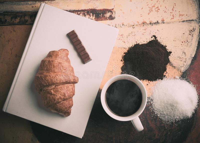 Coffee And Croissant Free Public Domain Cc0 Image
