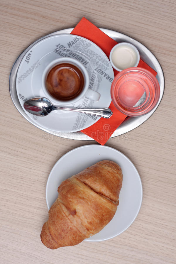 Coffee with Croissant royalty free stock image