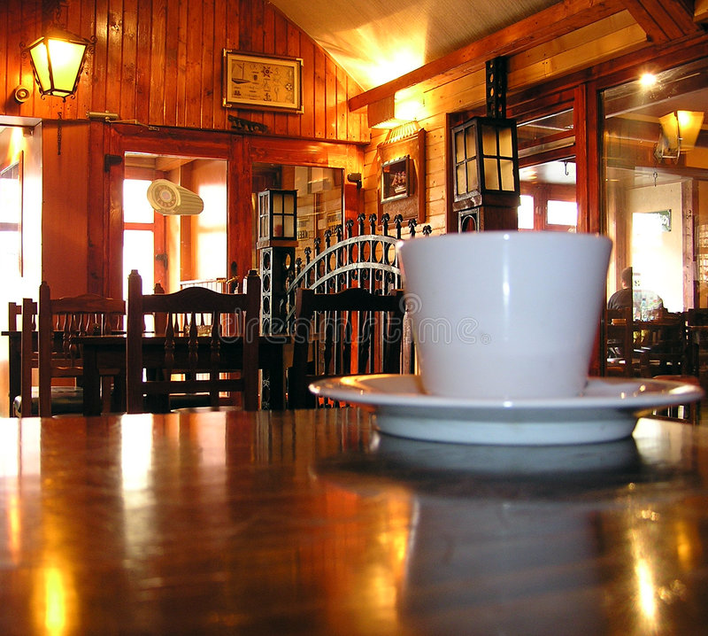 Download Coffee cup stock image. Image of saloon, beverage, lights - 105359