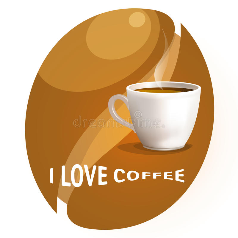 Download Coffee cup stock vector. Illustration of black, restaurants - 12236773