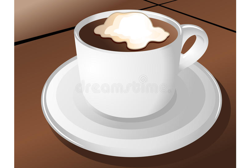 Download Coffee cup stock illustration. Image of icons, liquid - 14570121