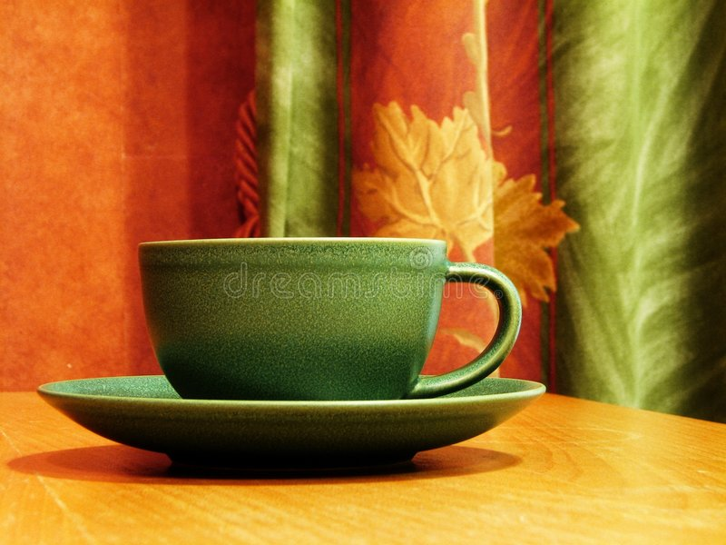 Download Coffee cup stock photo. Image of wooden, coffee, enamelled - 1712972