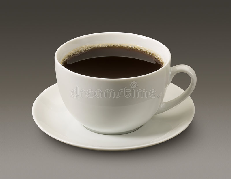 Coffee Cup. Against a grey background. Isolation is on a transparent layer in the PNG format stock photo