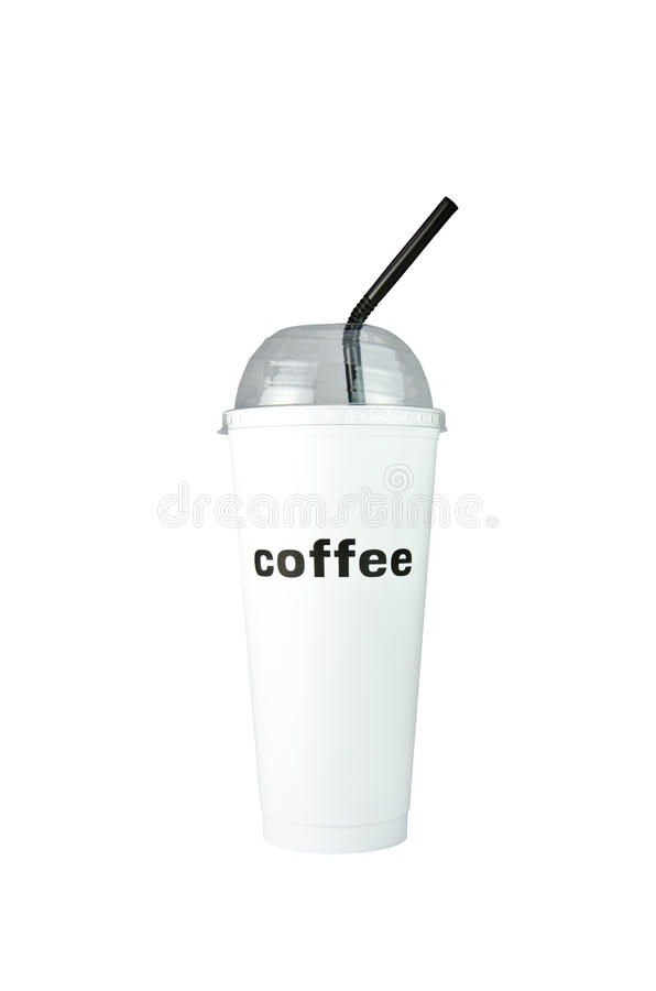 Coffee cup. Plastic coffee cup templates over white background stock image