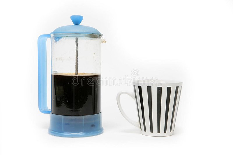 Coffee and cup stock photography