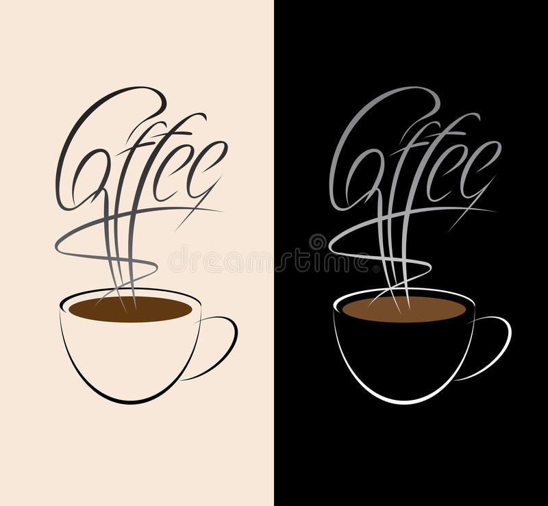Download Coffee cup stock vector. Illustration of decoration, brown - 22077524