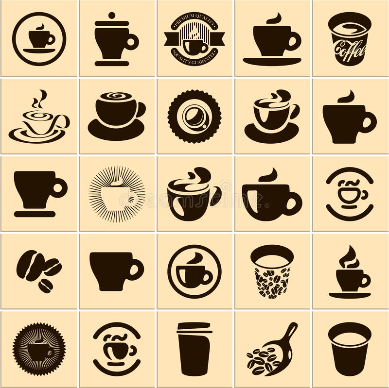 Coffee cup. Set. Tea cup. Vector icon collection