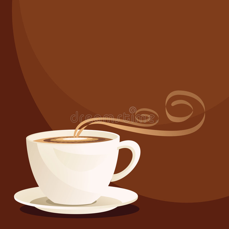 Download Coffee Cup stock vector. Image of vector, graphic, brown - 9247081