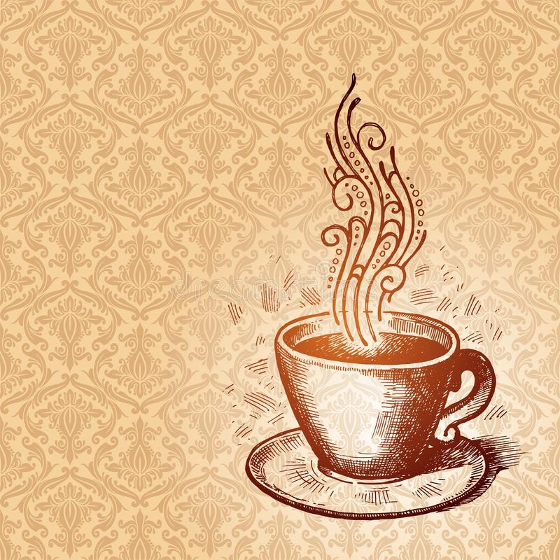 Coffee cup. Vector illustration with hand drawn Coffee cup