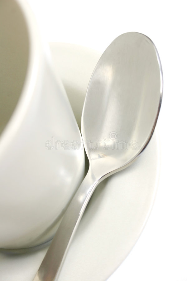 Free Coffee Cup And Spoon Royalty Free Stock Photography - 254817