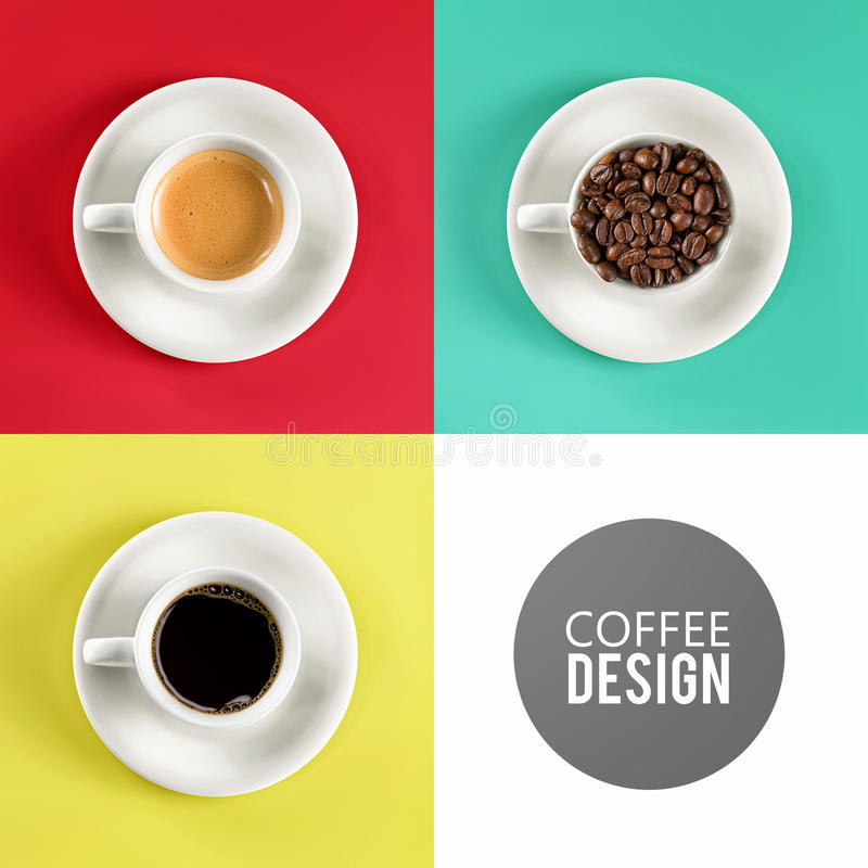 Free Coffee Cup Art Design Royalty Free Stock Image - 36548266