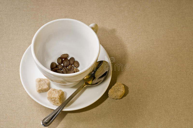 Coffee cup with bean stock image