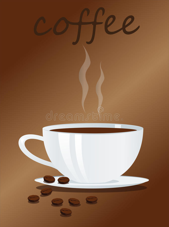 Download Coffee cup and beans stock vector. Image of drinks, drink - 23421260