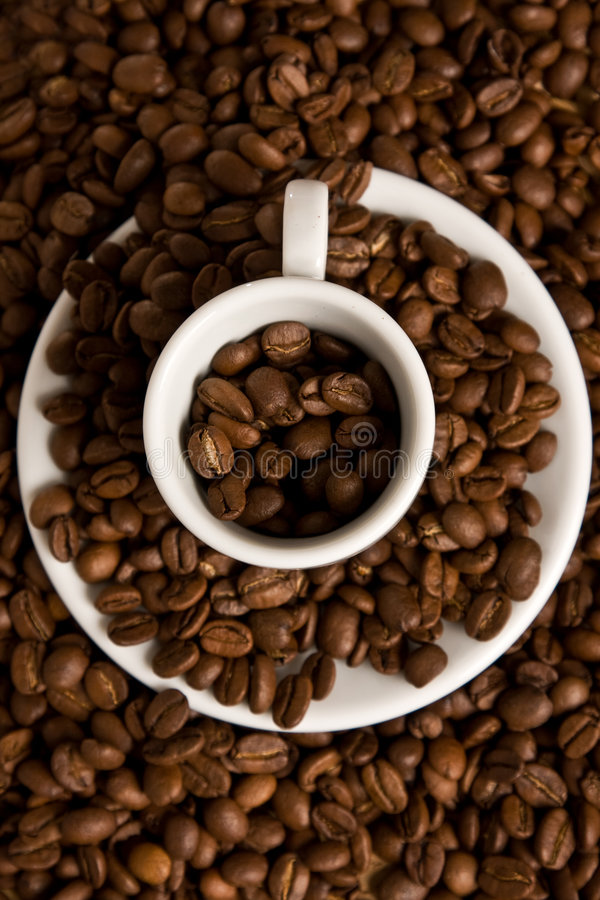 Download Coffee cup and beans stock image. Image of caffeine, beans - 7338271