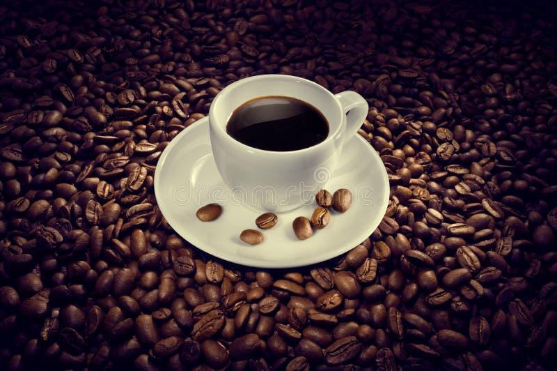 Coffee. Cup of coffee beans. energy, vivacity, caffeine stock photo