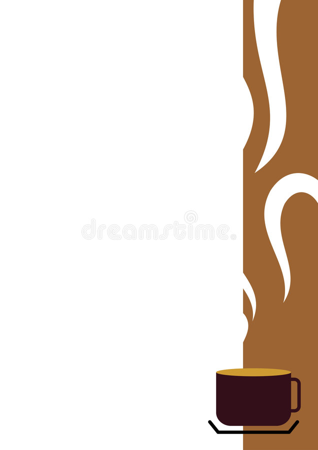 Coffee Cup Border. Illustration of a coffee cup border stock illustration