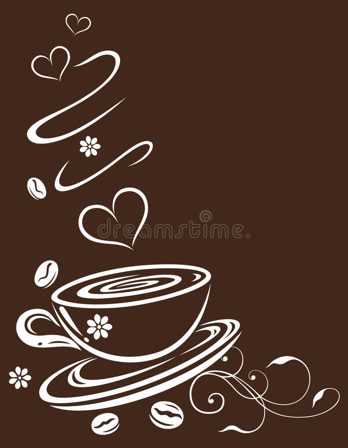 Download Coffee Cup, Brown And White Stock Vector - Image: 34386067