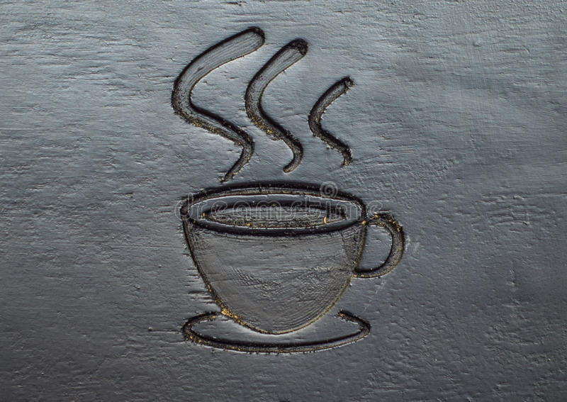 Coffee cup carve stock photos