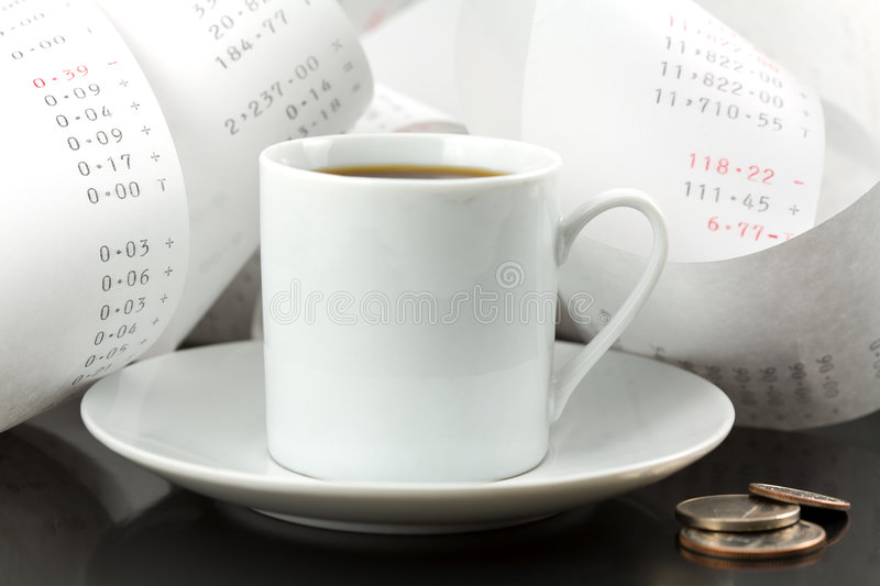 Download Coffee Cup, Change And Adding Tape Stock Photo - Image: 5121010