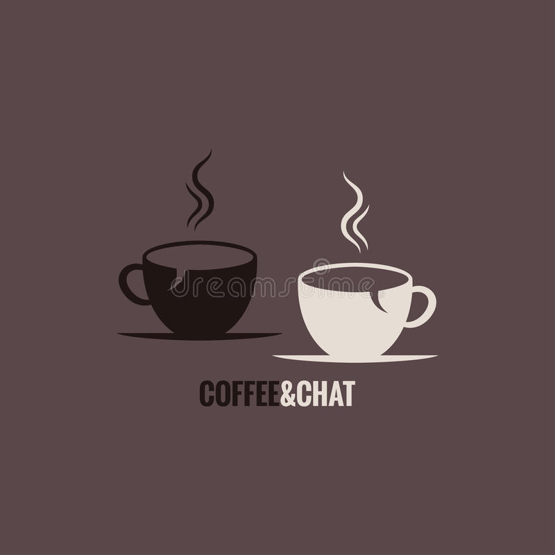 Coffee cup chat concept background royalty free illustration